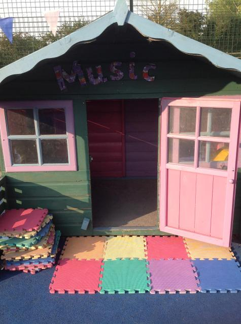 The music shed.