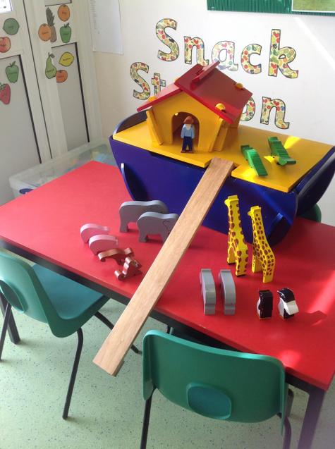 Our snack station when not in use can be used for other activities.