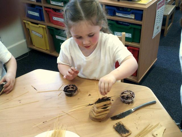 The children enjoyed making edible structures during Science week.