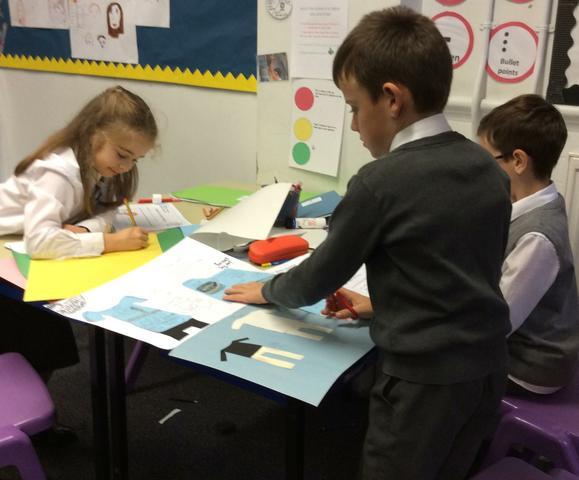 Children designed promotional materials.