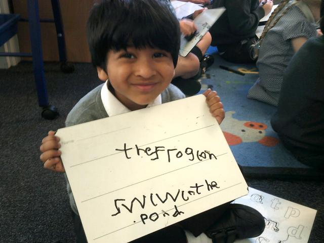 I can write a sentence!