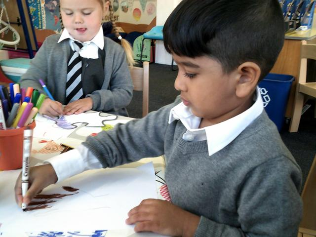 In Matisse Class we are a team and created a team flag.
