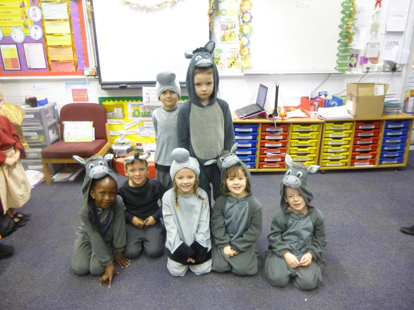 Lenci, Henry and the Year 1 donkeys.