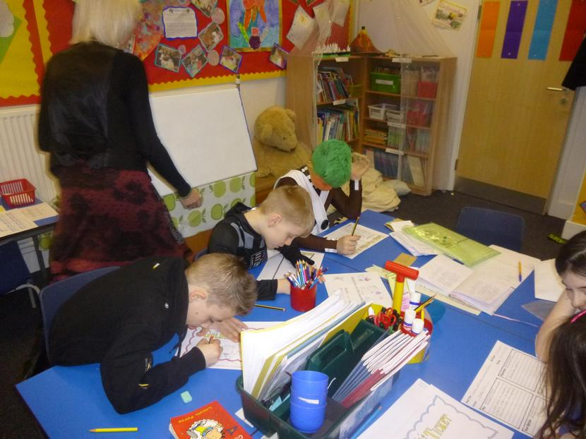 Reece and Luke working hard on their Golden Ticket