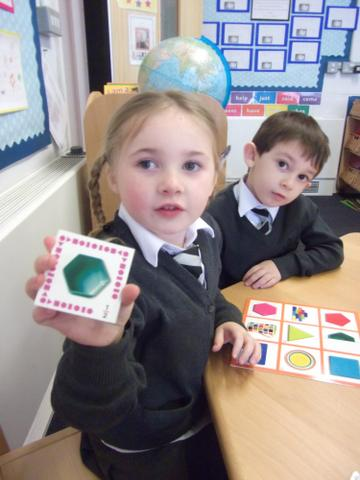 It is a Hexagon Miss Kiely and it has 6 sides.