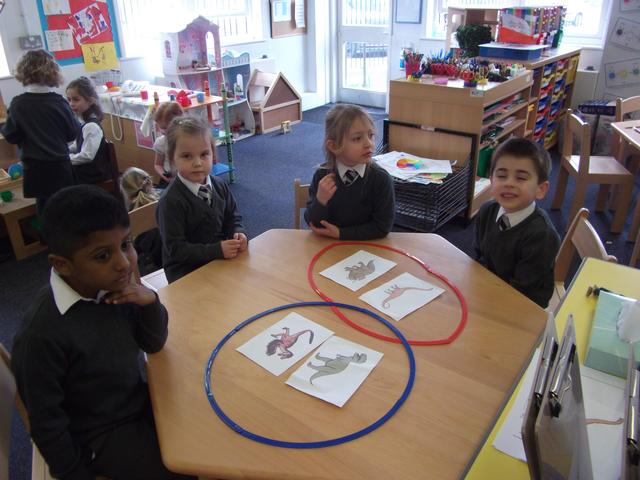 The children sorted Dinosaurs based on their own criteria.