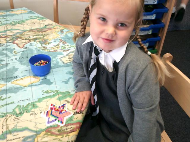 We have been developing our fine motor skills using the Hema Beads.