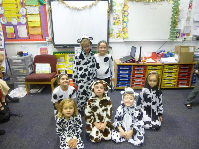 Lacy, Ellen and the Year One cows.