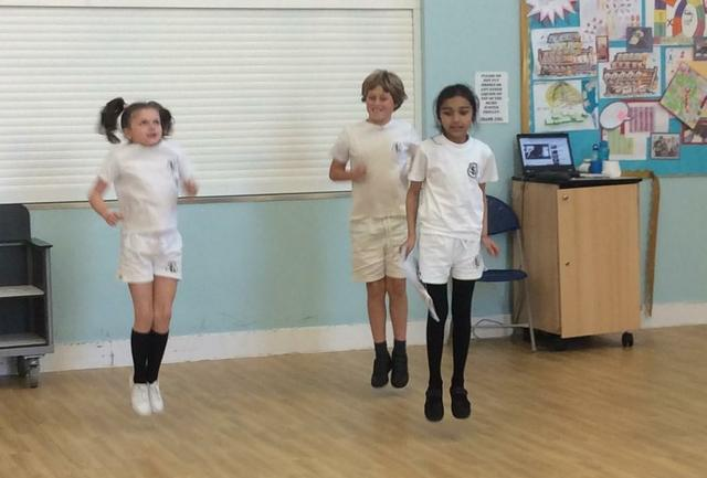 'Fun Fitness Ninjas' launch their fitness session.
