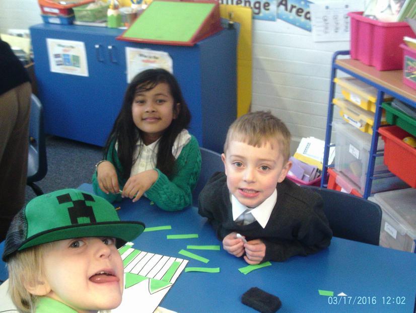 Amira and Jaeden making the Leprechaun