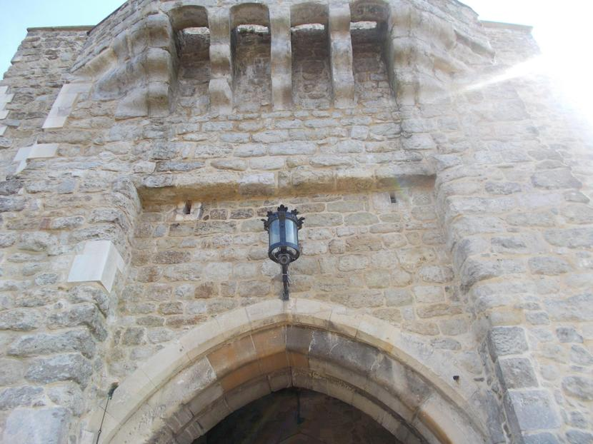 machicolations above the castle entrance