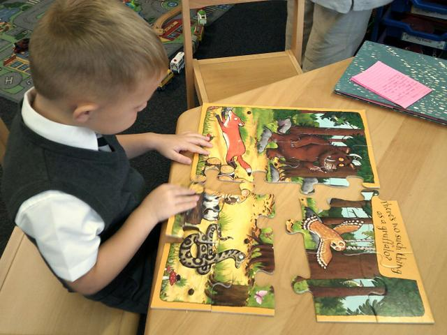 Some children have enjoyed completing puzzles.