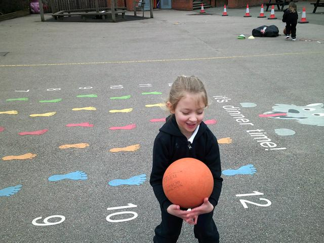 Our PE this half term is ball skills.