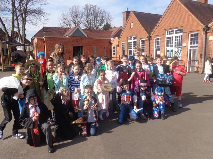 We all dressed up as book characters!