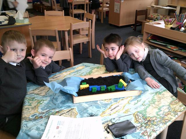 During Science lessons we have learnt about Earthquakes.