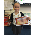 Lillyana Literacy Award Winner Autumn 1