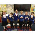Silver and Gold (Amy) Dojo Award Winners 20.12.19