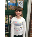Thank you to Sophia's Mum for decorating her T shirt!