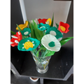 Colourful clay flowers - so bright and cheery
