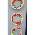 Christmas collage wreaths
