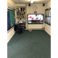 Carpet area and Mrs Vasey's desk