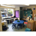 Creative area and group activity table