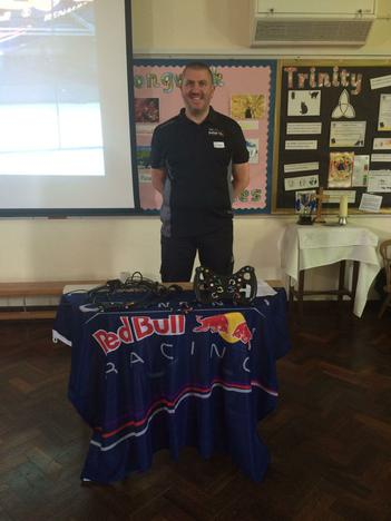 Mr Harvey - engineer for Red Bull Racing