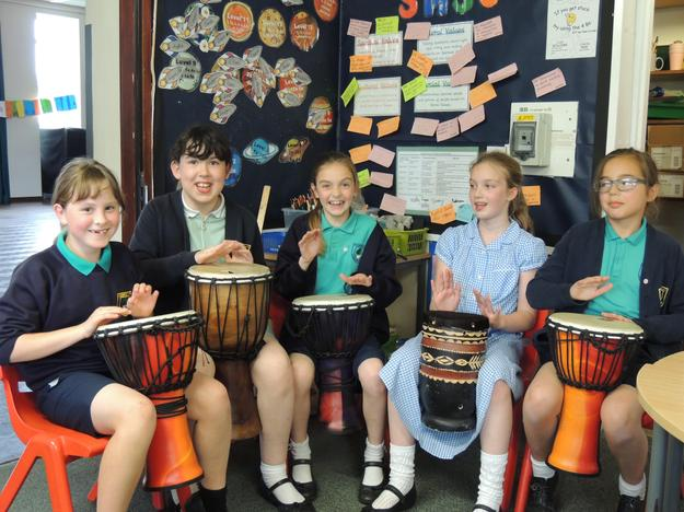 Drumming in Year 4