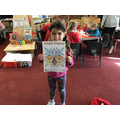 Rangoli Patterns in Reception