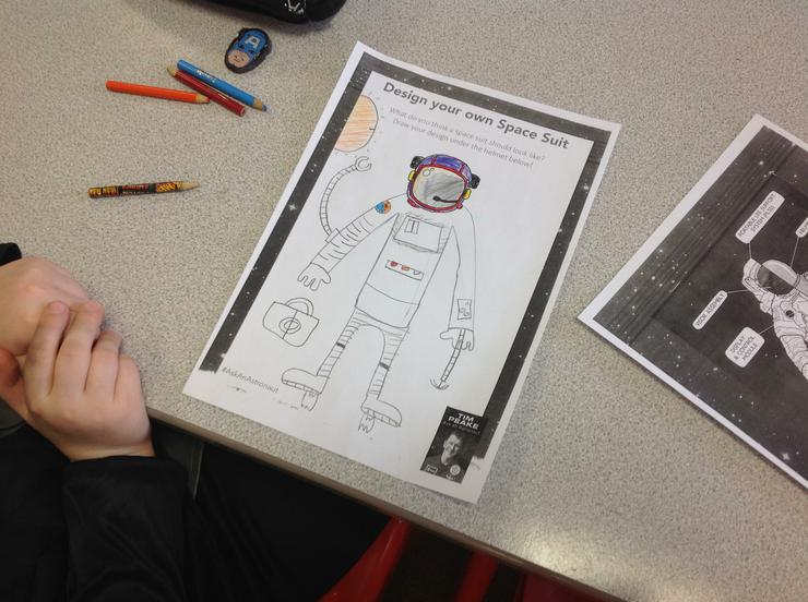 Year 5 designed a new spacesuit for Tim Peake