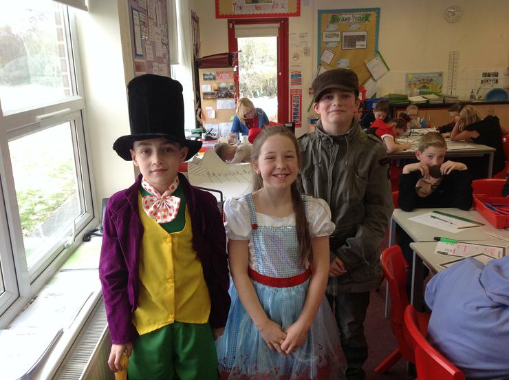 Year 6 as their favourite book characters