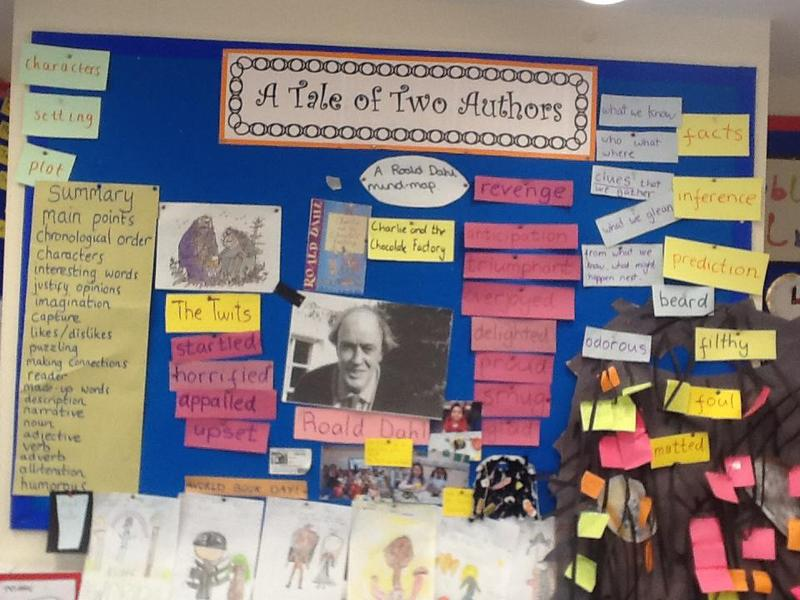 A working wall for English in Year 3