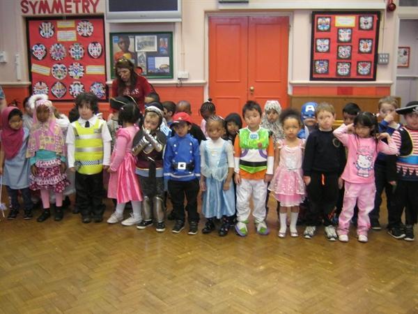 Reception Children in costume