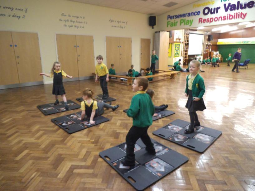 Dance mats were lots of fun!
