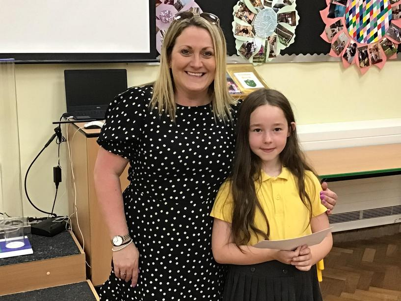 Delilah, winner of the Key Stage One Creativity award.