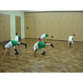 Gymnastic lessons with a Lancashire coach.