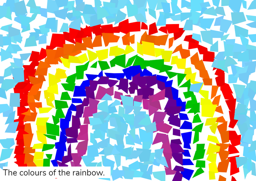 Matilda's rainbow artwork