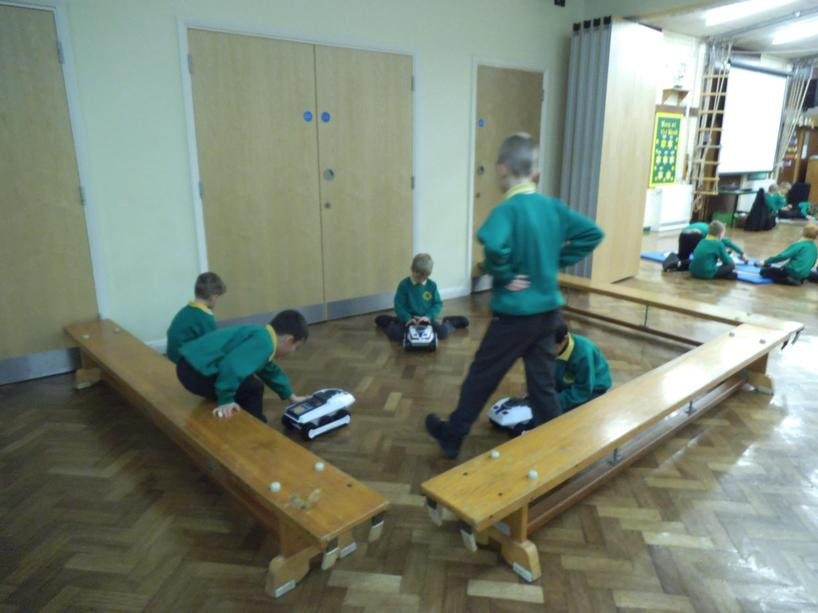We enjoyed I.C.T. activities in the hall