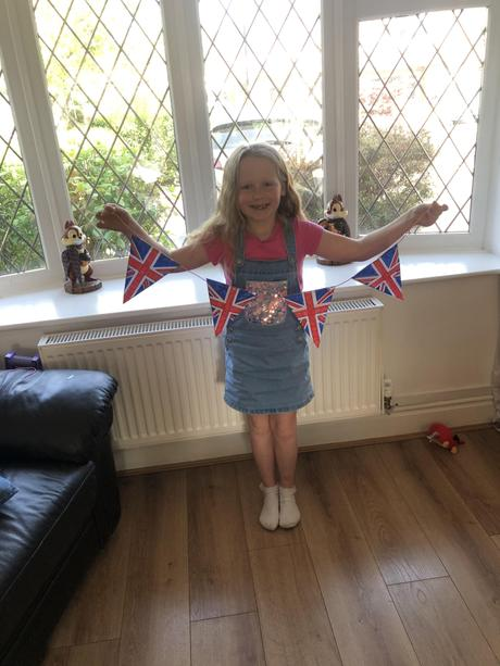 Well done Maci for making some handmade bunting!