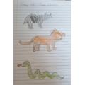 Animal drawings by Gabriela