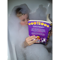 E reading and relaxing in a bubble bath
