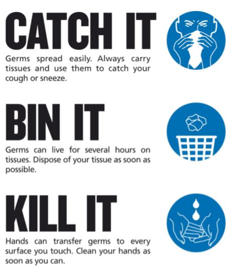 Keep clean, reduce germs