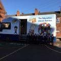 The library van visited school.
