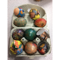 Our decorated and rolling eggs!