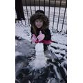 Nora enjoying the snow!