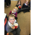 We had tea and biscuits for our class treat.