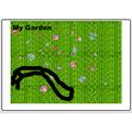 Fraiya's garden done on Purple Mash