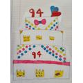 Love this Queen's cake design by Fraiya