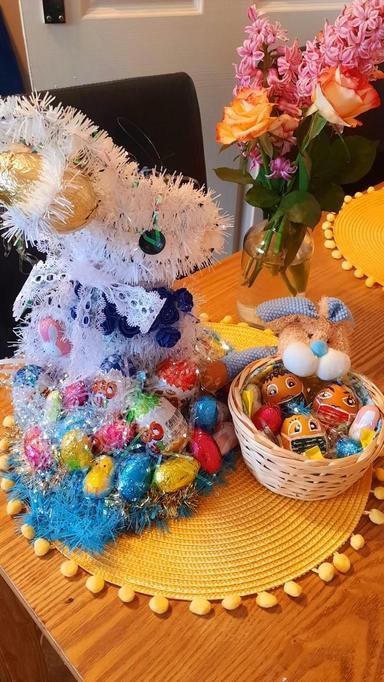 Sasha's hat and eggs