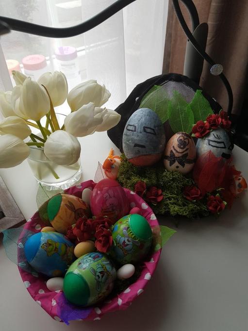 Nikita's eggs and hat